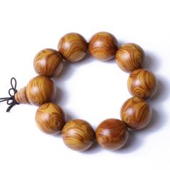 合盛緣 黃金楠木2.5cm 手串
