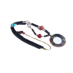 瑞斌珠宝  战国老水草玛瑙项链  规格49mm   黄金珠宝玉器玛瑙