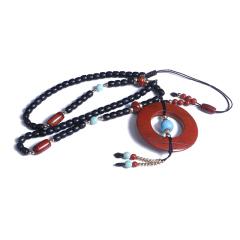 瑞斌珠宝  老战国红项链  规格55mm   黄金珠宝玉器玛瑙