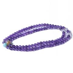 博琚轩  紫水晶佛串  规格6mm  重量30g   时尚饰品紫水晶