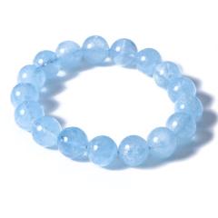 博琚轩  海蓝宝手链  规格12mm  重量46g   蓝宝石