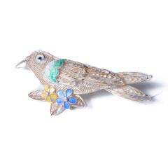 樓蘭文玩小鋪 奇趣收藏 工藝品 花絲鑲嵌胸針