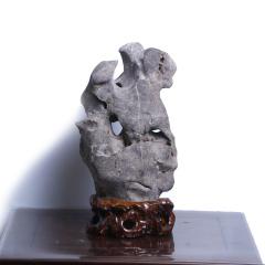 天宝奇石馆  墨湖石 摆件  奇趣收藏摆件