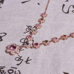 天然美珠宝行 镶嵌彩宝 项链