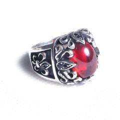 玩勿尚炙   戒指 红宝石镶925银戒指