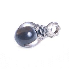 玩勿尚炙 时尚饰品 925纯银龙爪镶宝石项链吊坠