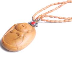 自在阁  和田玉苏工弥勒 橄榄核米珠   黄金珠宝玉器