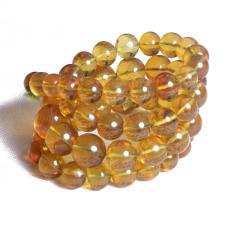 菩提缘   大金蓝珀项链   重量98.14g   黄金珠宝玉器琥珀