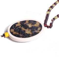 菩提缘   玳瑁象牙坠 血珀链  黄金珠宝玉器琥珀