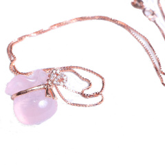 隆誉珠宝  s925粉晶福袋  时尚饰品水晶饰品
