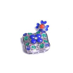 隆譽珠寶  s925青金石吊墜景泰藍  時尚飾品青金石吊墜