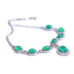 隆譽珠寶  s925玉髓項鏈  玉髓項鏈