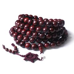 祥龍玉緣 時尚飾品 手串 108顆1.2紫檀佛珠長串