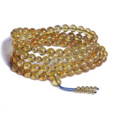 珍宝玉坊   多米尼加蓝珀手串   规格(7mm-8mm)   黄金珠宝玉器琥珀