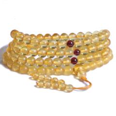 珍宝玉坊   金珀108颗佛珠手串   黄金珠宝玉器琥珀
