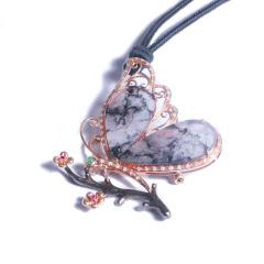 鳳凰翠綠珠寶  k金鉆石翡翠胸針   時尚飾品