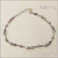 金中金钻中钻 黄金珠宝 手链 18K白金手链 约重3.3g