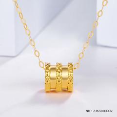 5D硬18K黄金小蛮腰吊坠(不含链,可另搭项链)