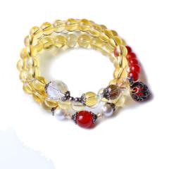 金鑫珠寶    天然黃水晶手串    時尚飾品水晶手串