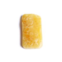 精品文玩 黄金珠宝 玉器 蜜蜡 蜜蜡龙牌 27.23克
