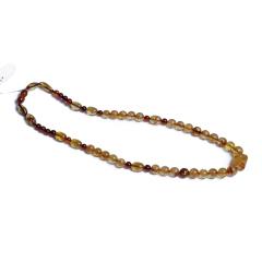 伊戈尔 琥珀 花珀圆珠项链(乌克兰产)