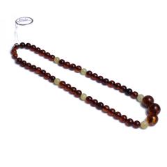 伊戈尔 琥珀 血珀圆珠项链(乌克兰产)